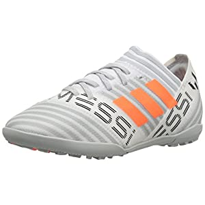 adidas Boys' Nemeziz Messi Tango 17.3 TF J Soccer Shoe, White/Solar Orange/Black, 1.5 Medium US Little Kid