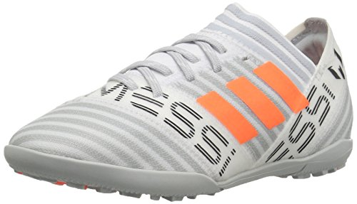 adidas Originals Boys' Nemeziz Messi Tango 17.3 TF J Soccer Shoe, White/Solar Orange/Black, 2.5 Medium US Little Kid