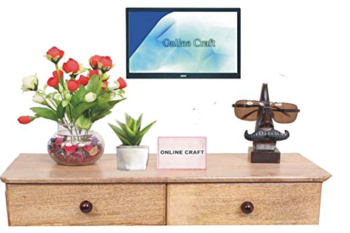 onlinecraft Wooden Wall Shelf  Clear