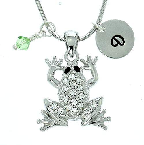 Sparkling Crystal Block Ring Chandelier: Amazon.com: Personalized Frog Pendant Sparkling Crystals