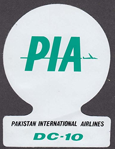 PIA Pakistan International Airlines DC-10 baggage sticker 1970s