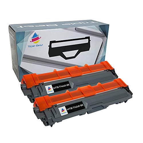 Triple Best Compatible Toner Cartridge Replacement for Brother TN-221BK TN221BK TN221 TN-221 HL-3140CW HL-3170CDW MFC-9130CW HL-3150CDW DCP-9020CDW MFC-9140CDN MFC-9330CDW MFC-9340CDW (2 Pack)