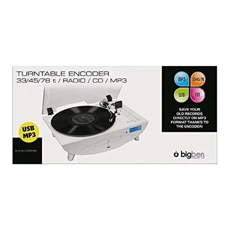 BigBen TD97 - Tocadiscos, blanco: Amazon.es: Electrónica