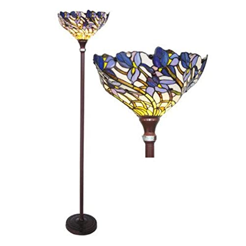 Torchiere lamp parts torchiere glass amazon chloe lighting ch38b01tf iris torchiere floor lamp aloadofball Images