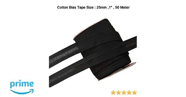 LaceQiao 50m//lot 100/% Cotton Bias Tape Pink bias Binding Tape DIY fold Tape Size:25mm Width:1 2.5cm fold Tape DIY sew Material Handmade Item