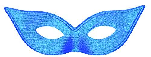 Harlequin Mask Satin Blue - Satin Harlequin Mask