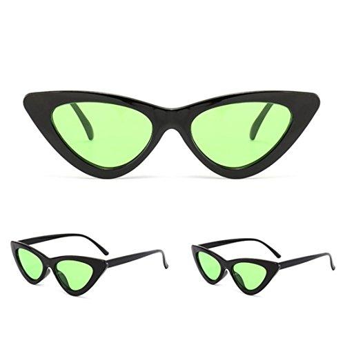 Petites Lunettes De Soleil En Yeux De Chat Pointues,OverDose Femme Intégré UV Mode Sunglasses E