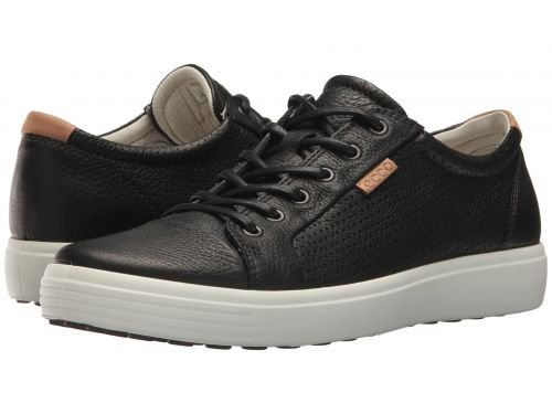 ECCO(エコー) メンズ 男性用 シューズ 靴 スニーカー 運動靴 Soft 7 Perf Tie - Black [並行輸入品] B07C8R7L43