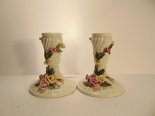 Made In Italy Porcelain Vintage Fine china candle (Vintage Porcelain Candle Holder)