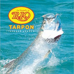 Rio Fly Fishing Tarpon 6′ 80Lb Fluorocarbon Shock 3 Pack Fishing Leaders, Clear For Sale