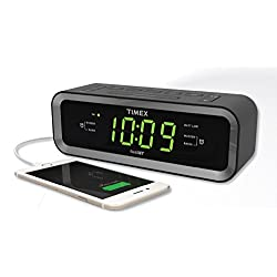 Timex T236BQX FM Dual Alarm Clock Radio with USB Charge Port - Black