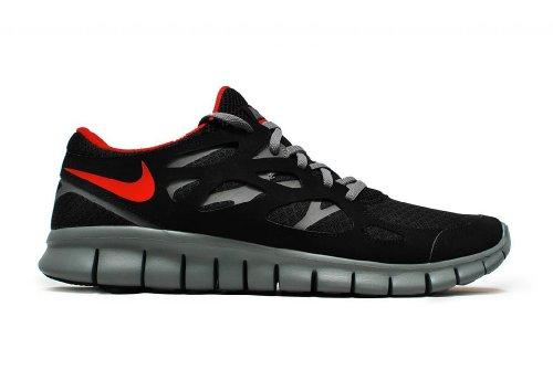 Nike , Herren Sneaker mehrfarbig Schwarz/Grau/Rot