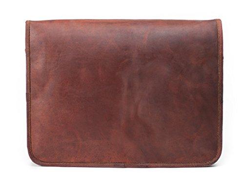 Lust funda de piel para hombre bolso bandolera de piel bolsa para portátil Bolsa de hombro