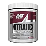 GAT - NITRAFLEX - Testosterone Enhancing Powder, Increases Blood Flow, Boosts Strength and Energy, Improves Exercise Performance, Creatine-Free (Black Cherry, 30 Servings)