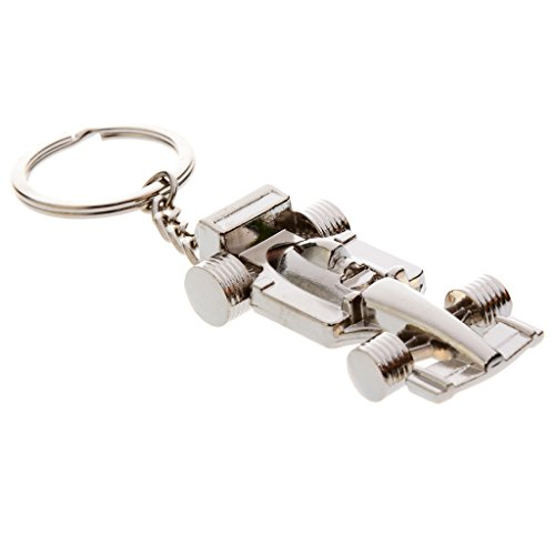 MagiDeal Chrome F1 Formula One Race Racing Car Model Charm Keyring Key Chain Fob Ring Holder