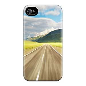 For Iphone 4/4s Premium Tpu Case Cover Free Beautiful Landscape Desktop 06 2010 10 Protective Case