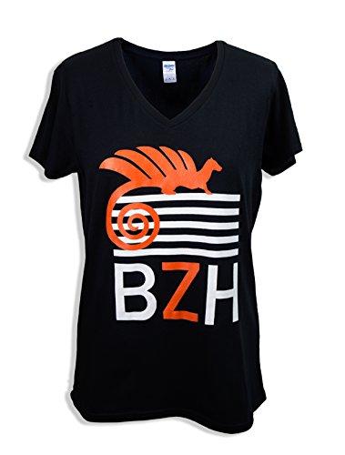 Coton Grillé Damen T-Shirt Schwarz schwarz