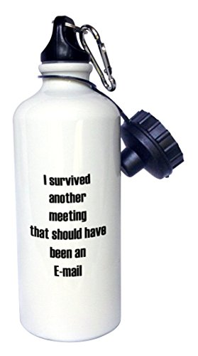 3Drose Wb 224367 1 I Survived Another Meeting That Should Have Been An Email Sports Water Bottle  21 Oz  White