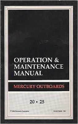 1994 MERCURY OUTBOARD 20HP, 25HP OPERATION MAINTENANCE