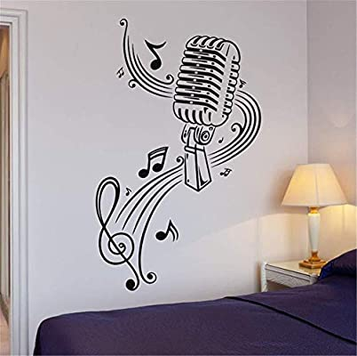 Vinilos Pared Habitacion Juvenil.Alicefen Nueva Tarjeta De Microfono Para Karaoke De Musica