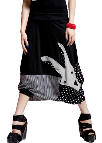 ELLAZHU Women Oversized Baggy Harem Goat Capri Short Pant Trouser Onesize GY09