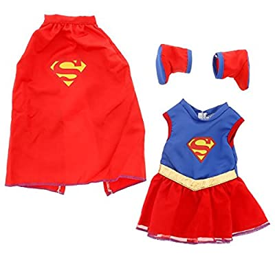 """Super Girl Doll Clothes for 18"""" Dolls: Super Hero Outfit By Dress Along Dolly (Includes Dress, Shoes, and Cape) from Dress Along Dolly"""