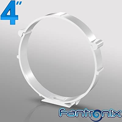 4 inch dia 100mm Duct Clip Clamp Bracket Circular?Plastic PVC Round Ducting for Extractor fan, Bathroom, Kitchen,Toilet, Domestic Ventilation, Hydroponics by Fantronix