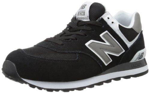 New Balance Mens Spring (New Balance Men's ML574 Classic Sneaker,Black/White,15 2E US)