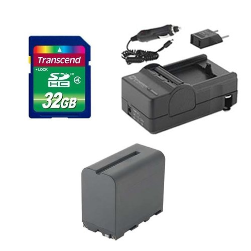 Sony NEX-FS700R Camcorder Accessory Kit includes: SDNPF970 Battery, SDM-105 Charger, SD32GB Memory Card by Synergy Digital