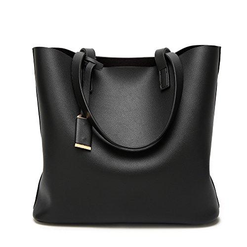 Anne de la mujer Tote Bolsas Casual Gran Capacidad del bolso Lady bolsos grandes bolsas de las mujeres E Black