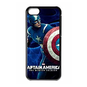 WJHSSB Print Captain America Pattern PC Hard Case for iPhone 5C