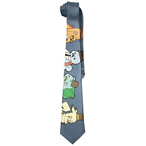 Mens Pokemon Go Bulbasaur Squirtle Leisure Wide Tie Necktie Costume Accessory Fashion Design - 10th Doctor Costume Tie