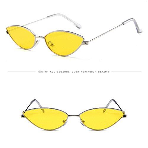 Metal De Lenses Gafas Sol Flat Sunglasses De Thin Light Ojos Ultra Keepwin Frame Gato C Mujer Women p8nwT7Xqg