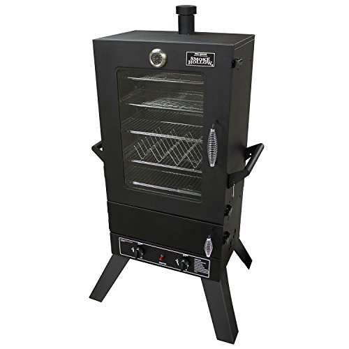 Masterbuilt 44241GW 2-Door Propane Gas Smoker with Window, 44-Inch, Black