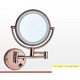 Folding IlluminatedLEDMirror/Bathroom mirror telescopic Beauty/Bathroom wall-sided magnifying mirror-C