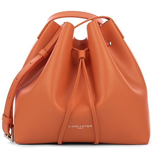 lancaster-paris-womens-42310orange-orange-leather-shoulder-bag