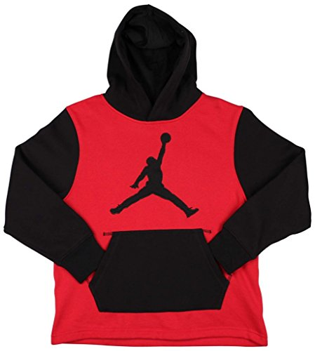 Jordan Big Boys Basketball Hoodies (L(12-13YRS), Red/Black)