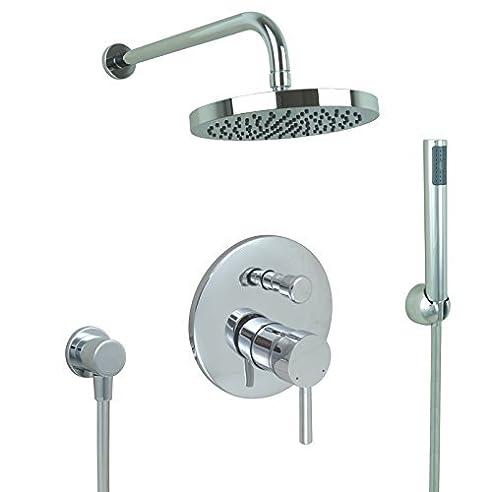welfenstein unterputz set 6 fr duschen regenbrause 20cm unterputzarmatur - Unterputz Armatur Dusche Set