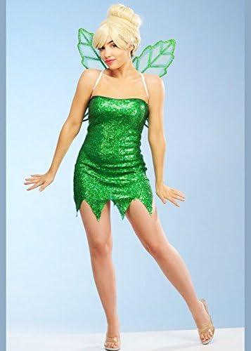 Delights Disfraz de Hada de Lentejuelas Verdes: Amazon.es ...