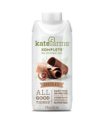 Kate Farms Komplete Meal Replacement Shake - Chocolate - 2 Case Special by Komplete by Komplete