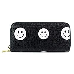 Women Paw Bifold Wallet Clutch Coin Id Card Holders Lady Girl Purse Long Handbag Pattern A