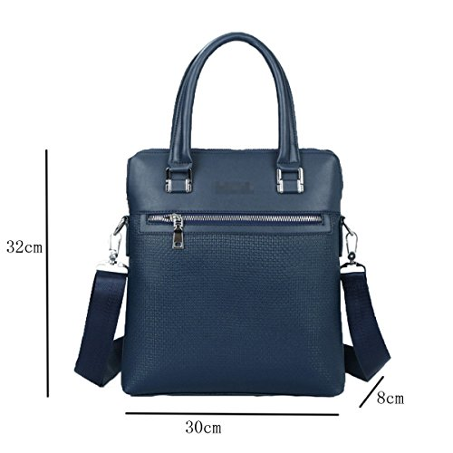 Upmarket Casual Fashion Shoulder Handcarry Unisex Texture Blue Multicolor Bag Business Bag 5qxYnABn