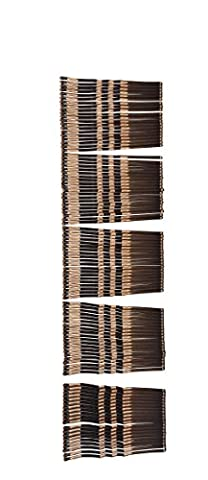 Falcon Claws Hot Sell Basic Curve Bobby pins 2 Inches , 500 count , 5 Pack of 100 (Brown) - 500 Count Pack