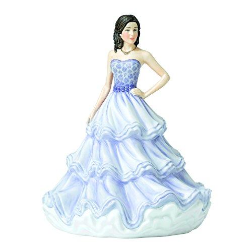"""Royal Doulton Sentiment Petites 6.9"""" HN 5876 Warm Affection Figurine, Purple"""