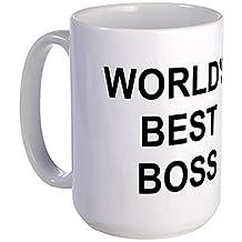 CafePress - Original World's Best Boss - Large Coffe Mug - Coffee Mug, Large 15 oz. White Coffee Cup