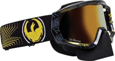 Dragon Alliance Unisex-Adult Vendetta Goggle Black/Gold Ion Lens One Size