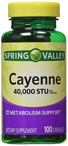 Spring Valley - Cayenne Fruit 40,000 STU, Whole Herb, 100 Capsules