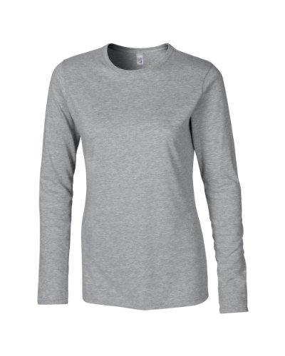 Gildan SoftstyleTM hilado y, manga larga camiseta gris