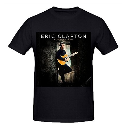 Timico Cover Eric Clapton-Forever Man Design Man's Tshirts (Roman Reigns Muscle)