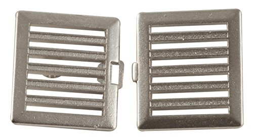 Square Horizontal Bar Clasp with Nickel Finish